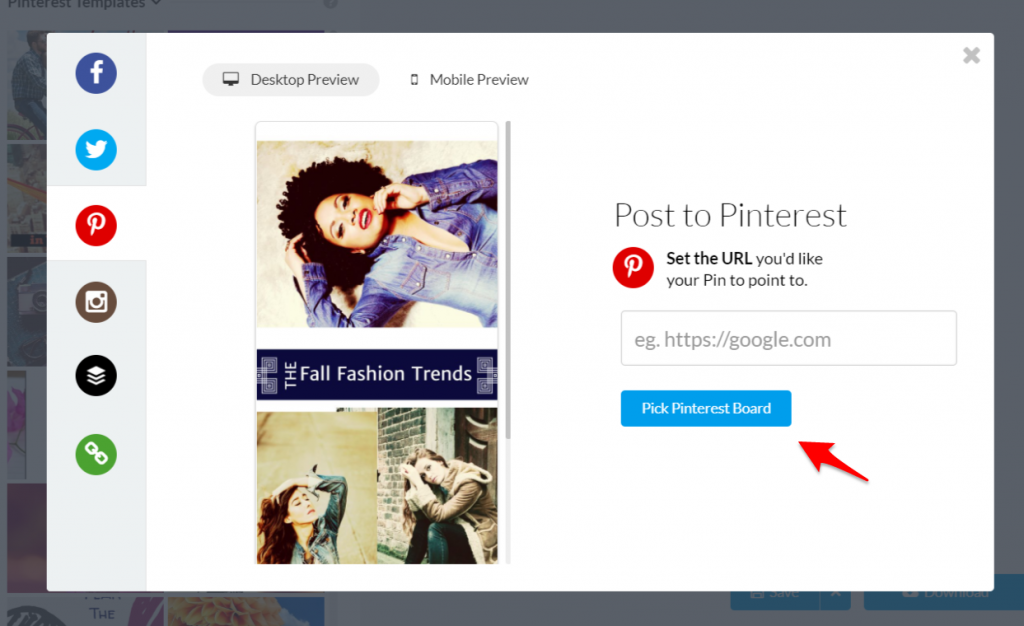 pinterest integration with stencil