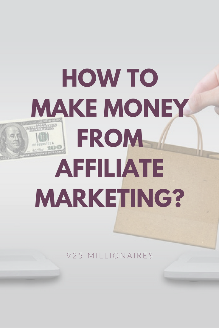 how to make money from affiliate marketing
