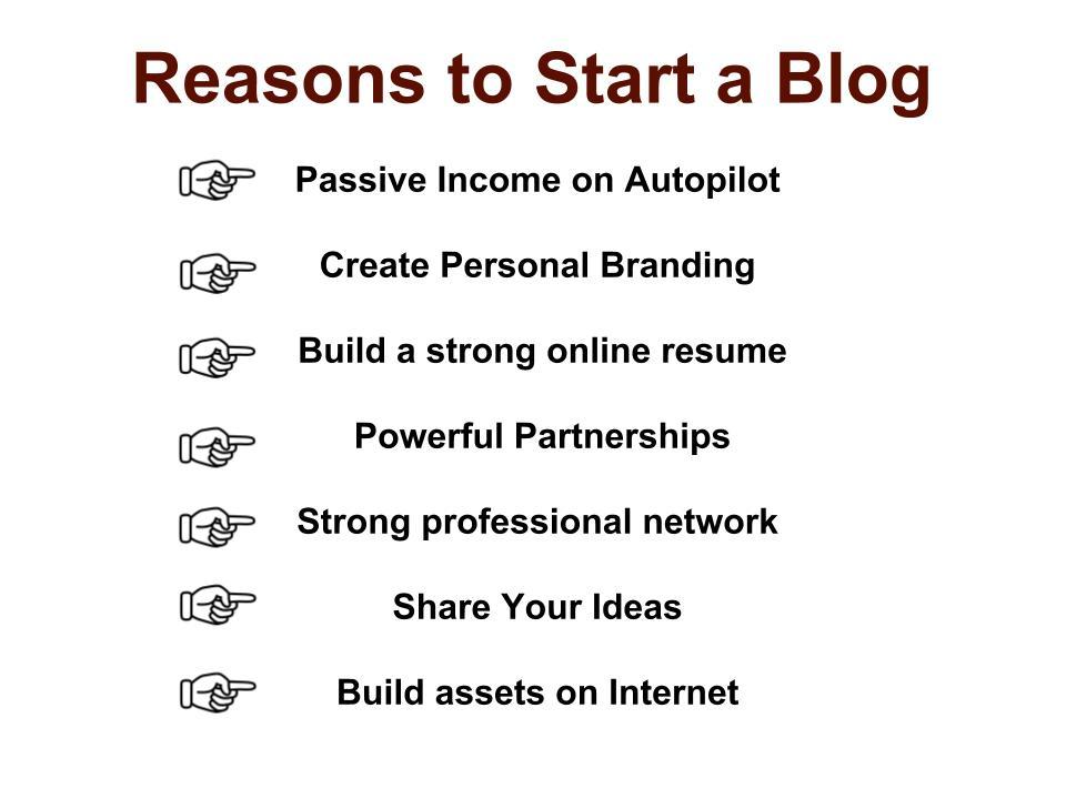 Reason to start a blog